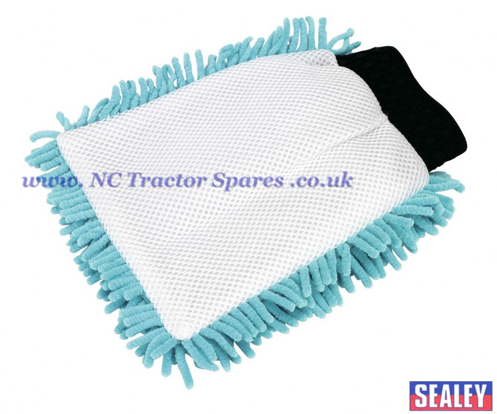 Shaggy Microfibre Mitt 2-in-1